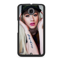 Iggy Azalea Trust Your Struggle Tattoo Nexus 6 case