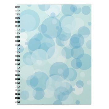 Blue Bubbles Spiral Notebook