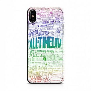 All Time Low Art Quotes iPhone X Case