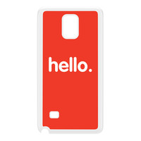 Hello White Hard Plastic Case for Galaxy Note 4 by textGuy
