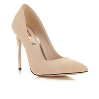 Glam Nude Gold Heel - Miss Selfridge
