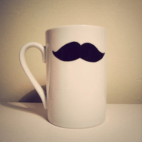 SALE Moustache mug by Mr Teacup by MrTeacup on Etsy