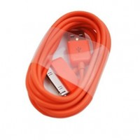 ELONGPRO 2M/6 feet USB Sync Charge Cable Cord for iPad 2 iPod Touch iPhone 4 4S Orange A1Q