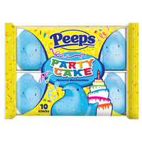 PEEPS & Company : PEEPS 10 CT PARTY CAKE FLAVORED MARSHMALLOW CHICKS, TRAY
