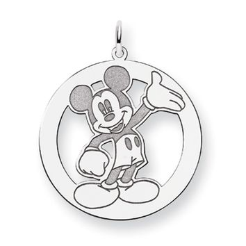 Disney's Sterling Silver Waving Mickey Mouse Charm