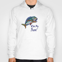 Wide Mouth Bass Hoody by Gretzky | Society6