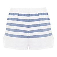 Lemlem Lilly Striped Shorts Grey