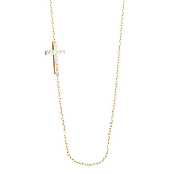 Skyfall Gold Cross Necklace