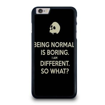 normal is boring quotes iphone 6 6s plus case cover  number 1