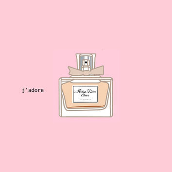 Poster - Cute Miss Dior Cherie Perfume Bottle Fashion Poster - Small