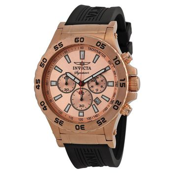 Invicta Signature II Ralford Chrono Rose-Goldtone Mens Watch 7445