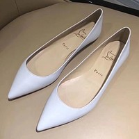Christian Louboutin Women Fashion Casual Low Heeled Shoes