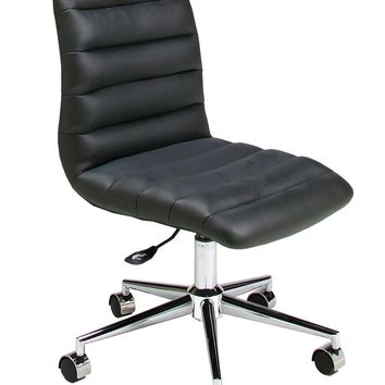 Hawthorne Office Chair in chrome/aluminum upholstered in Pu Black