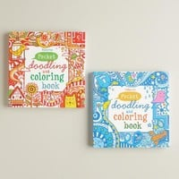 Pocket Doodling and Coloring Books, Set of 2