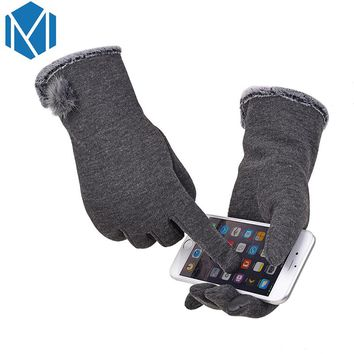 2017 Best Quality New Arrivial Phone Tablet Finger Tip Touch Screen Gloves Smart Warm Winter Fall Cotton Mitten For Women Gift