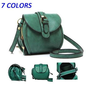 Hot sale  Double zipper Women messenger bags New  small shoulder bags evening bags fashion PU leather handbags (Color: Green) = 1753443076