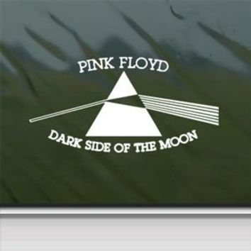 Pink Floyd White Sticker Decal Dark Side Of The Moon White Car Window Wall Macbook Notebook Laptop Sticker Decal