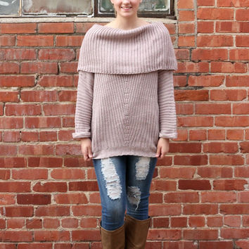 Snow Days and Snuggles Sweater in Light Mauve