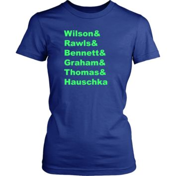 Seahawks Roll Call 2 Womens T-shirt