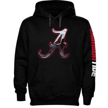 Alabama Crimson Tide Chrome Logo Hoodie – Black
