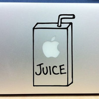 Removable Apple Juice Box - Vinyl Macbook / Laptop Decal Sticker Graphic