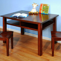 AFG Furniture Newton Kids Table and Chair Set - Mahogany