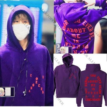ALLKPOPER Kpop Hoodies GOT7 Hooded Hoodie Mark Airport Purple Sweatershirt Kawaii Korean Coat Pullover tracksuits