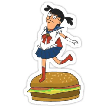 Sailor Moon Tina Belcher from bob's burgers