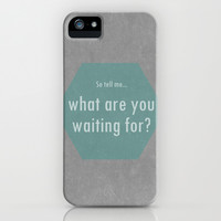 Concrete & Letters II iPhone & iPod Case by no.216