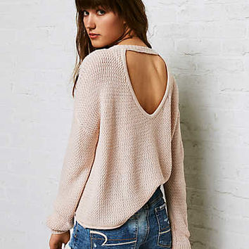Don't Ask Why V-Neck Crop Sweater, Just Rosey