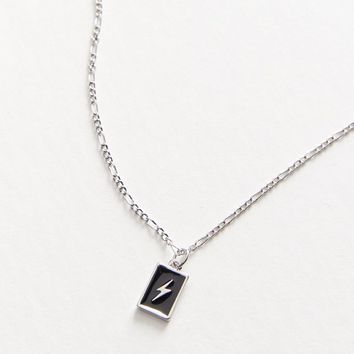 Riley Enamel Tag Necklace   Urban Outfitters