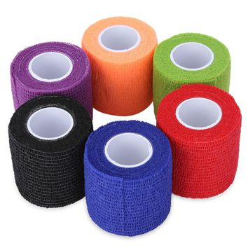 GUSTALA Tattoo Accessories 6pcs Tattoo Self Adhesive Elastic Wide Sports Tennis Elbow Bandage Nail Tapes Finger Protection Wrap