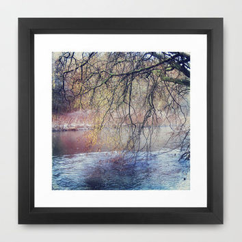 weeping willow Framed Art Print by Dirk Wuestenhagen Imagery