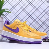 """Nike Air Force 1"" Unisex Casual Personality Multicolor Low Help Plate Shoes Couple Sneakers"
