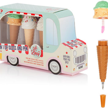 ICE CREAM TRUCK LIP GLOSS + PEN SET