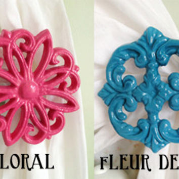 Curtain Tiebacks, Curtain Tie Backs, Curtain Holdbacks, Choose Your Color