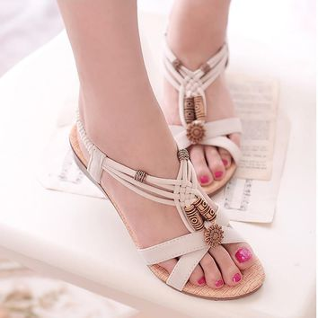 2018 Women Sandals Summer Fashion White Beach Shoes Flat Heel Flip Gladiator Brief Herringbone Flip-flop Sandals Women's Shoes