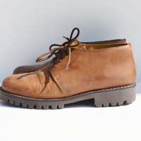 Vintage Brown Leather Shoes by St. Johns Bay Made in Italy
