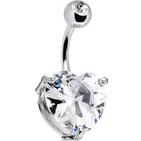 April 14mm Heart Solitaire Birthstone Ring