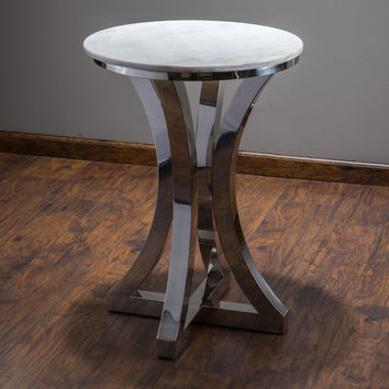 Christopher Knight Home Paris Stainless Steel Side Table | Overstock.com Shopping - The Best Deals on Coffee, Sofa & End Tables