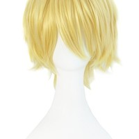 MapofBeauty Blonde Short Party Costume Cosplay Wigs