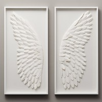 Hand-Folded Paper Angel Wing Art