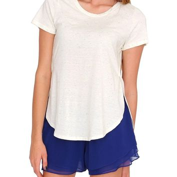 As Always Shortsleeve Top - Ivory