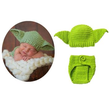 Cute Cartoon Unisex Infant Newborn Crochet Knitting Soft Woolen Outfits Clothing Set Photography Costume