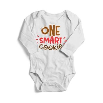 One Smart Cookie Baby Long Sleeve Bodysuit