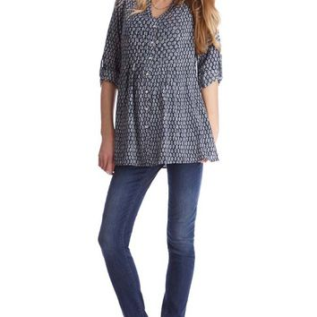 Seraphine Fern Maternity Nursing Button Down Blouse