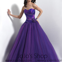 Purple Home Coming Prom Formal Dress HB2018D