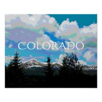 Colorado poster nature art mountains landscape