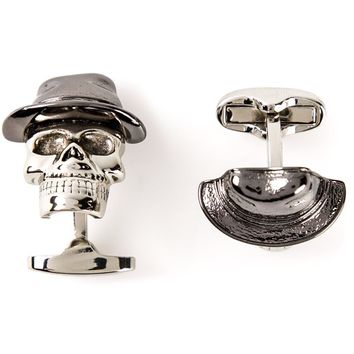 Paul Smith 'Skull Tophat' cufflinks