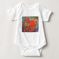 Galloping Red Baby Bodysuit